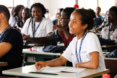 YYAS participants are African secondary students from all across the continent who demonstrate high academic achievement, leadership potential, and a strong interest to pursue post-secondary education. Photo credit to Dagan Rossini, YYAS Fellow.