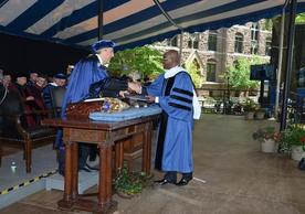 Zimbabwean entrepreneur and philanthropist, Mr. Strive Masiyiwa, receives an Honorary Doctor of Humane Letters at Yale University's 318th commencement.